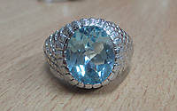 Потрясающий  перстень с натуральным топазом, размер 18,4 от студии LadyStyle.Biz, фото 1