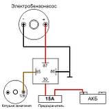Электробензонасос низкого давления ВАЗ ТАВРИЯ  (карбюратор)  (Aurora), фото 3