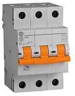 Автоматический выключатель DG63 C40 6kA (3р 40A) General Electric