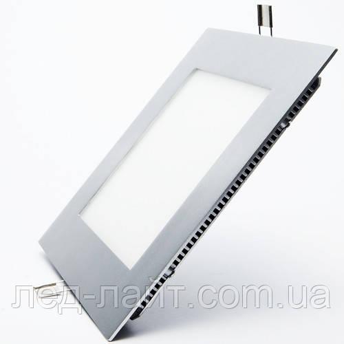 Светодиодная панель (встраиваемая) квадрат 15Вт, 200мм