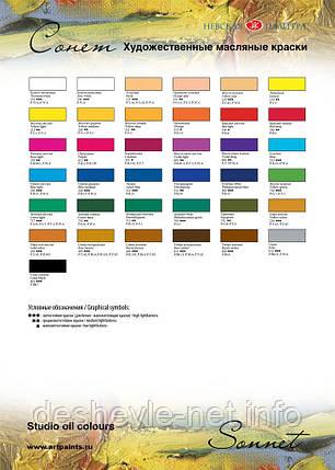 Краска масляная, Белила титановые, 46мл, Сонет, фото 2