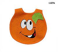 Слюнявчик Апельсин на липучке
