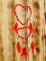 """Ловец Снов """"Два Сердца"""" (Красный)"""