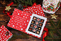 Новогодний подарок коробка-книга с конфетами