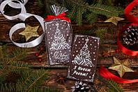 """Шоколадная открытка """"Елка"""".  Шоколадные подарки с логотипом на Новый год."""