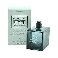 Мужская туалетная вода Antonio Banderas Seduction in Black for Men eu de Toilette (EDT) 100ml, Тестер (Tester)