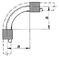 Направляющая 90° для фиксации поворота трубы