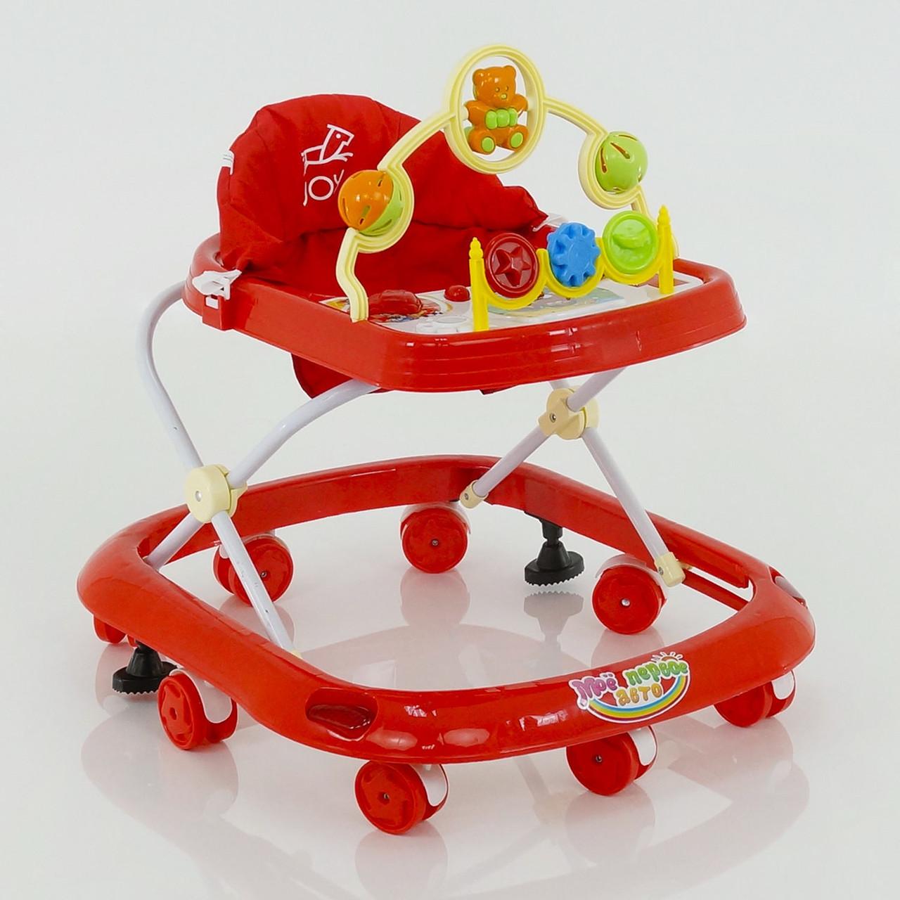 Детские музыкальные ходунки модель 258 (красные)