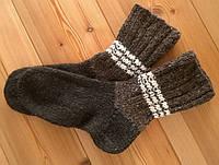 Вязаные носки из овечьей шерсти ручной работы
