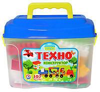 Конструктор детский Техно Технок в саквояже 107 дет. (3640)