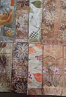 Красивая скатерть на кухню обшитая бахрамой, 110х140 см., 54/44 (цена за 1 шт. + 10 гр.)