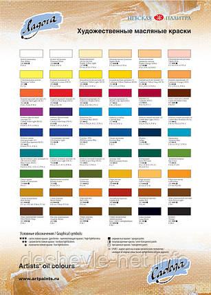Краска масляная, Белила цинковые, 120мл, Ладога, фото 2