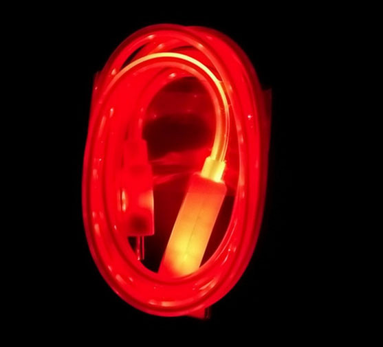 Світиться кабель USB-MicroUSB для смартфонів ЧЕРВОНИЙ УЦІНКА SKU0000275