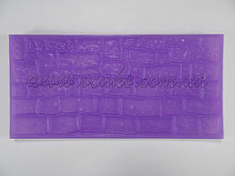 Коврик силиконовый кирпичик