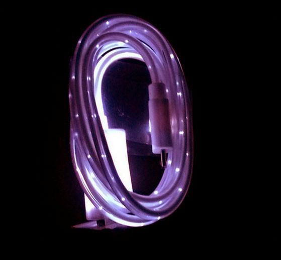 Світиться кабель USB-MicroUSB для смартфонів ФІОЛЕТОВИЙ УЦІНКА SKU0000278