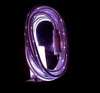 Светящийся кабель USB-MicroUSB для смартфонов ФИОЛЕТОВЫЙ УЦЕНКА SKU0000278