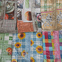 Красивая кухонная скатерть с бахрамой, 110х140 см., 54/44 (цена за 1 шт. + 10 гр.)