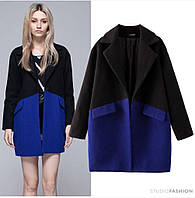 Пальто из кашемира на пуговицах с карманами, фото 1