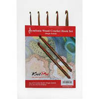 20716 Набор деревянных односторонних крючков для вязания Symfonie Wood KnitPro