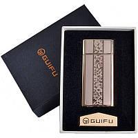 Зажигалка подарочная GUIFU (спираль накаливания, USB) №4690-2