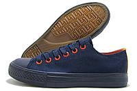 Кеды подростковые Lemax темно-синие с оранжевым