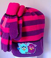 Головные уборы  Зима Furby+перчатки 780-042 CottonLand Польша