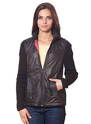 Женская куртка з вязаными рукавами