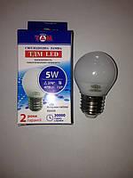 Светодиодная LED лампа ТДМ G45 Е27 4500k 5w 220v