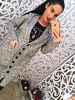 Женский стильный теплый кардиган на пуговицах с капюшоном (2 цвета)