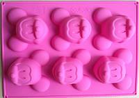 """Силиконовая форма для выпечки кексов """"Микки-маус"""""""