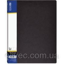 """Папка """"Economix"""" 20 файлов, А4, черная"""
