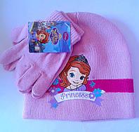 Головные уборы Зима Sofia+перчатки Обх. гол.54 Розовая 4298 CottonLand Польша