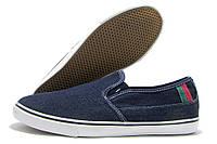 Слипоны мужские Lemax R5 джинсовые синие