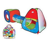 Игровая палатка 3в1 (домик+тоннель+вигвам)