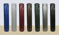 Сэндвич труба для дымохода из нержавеющей стали в кожухе из полимера глянцевого(сендвич) ф120 0,6/0,6  AISI 43