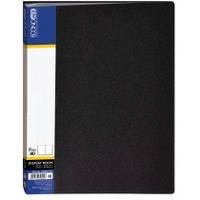 """Папка """"Economix"""" 40 файлов, A4, черная"""
