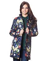 Женская стеганная куртка удлененная