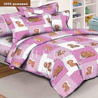 3555 розовый Ранфорс подростковое постельное белье Вилюта