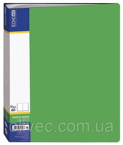 """Папка Economix"""" 60 файлів, А4, зелена"""
