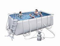 Бассейн BestWay 56457 каркасный 400х200х122 (песочный фильтр)