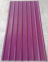 Профнастил ПК-12, кровельный 8-ми волновой, 2м Х 0,95м, толщина 0,3 мм, цвет: вишня, фото 3