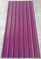 Профнастил ПК-12, кровельный 8-ми волновой, 2м Х 0,95м, толщина 0,3 мм, цвет: вишня