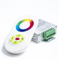 RGB контроллер 18А RF5 кнопок белый сенсорный пульт