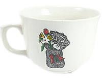 Чашка 500 мл ''Аппетитка'' снежка  с деколью ''Тедди'' 1 шт.