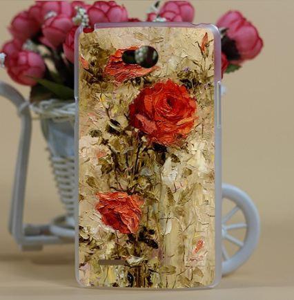 Силиконовый чехол бампер для LG L80 d380 с принтом Красные розы