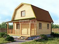 Дом дачный деревянный, каркасный под ключ