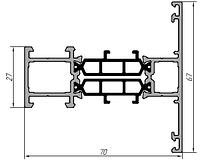 KMD.70.IM01 Профиль импоста 67 мм (6,5 м)
