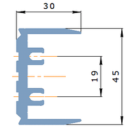 KMD.F50.SH00.105.Деталь Сухарь-закладная под ригель 105 мм