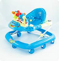 Ходунки детские музыкальные Joy «Мое первое авто» - синий