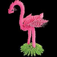 """Модульное оригами Бумагия """"Фламинго"""" 406 модулей ОМ6087"""